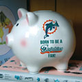 Miami Dolphins NFL Ceramic Piggy Bank