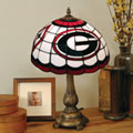Georgia UGA Bulldogs NCAA College Stained Glass Tiffany Table Lamp