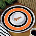 "Baltimore Orioles MLB 14"" Round Melamine Chip and Dip Bowl"
