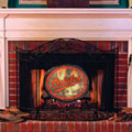 Baltimore Orioles MLB Stained Glass Fireplace Screen