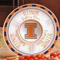"Illinois Illini NCAA College 14"" Ceramic Chip and Dip Tray"