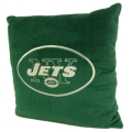 "New York Jets NFL 16"" Embroidered Plush Pillow with Applique"