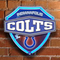 Indianapolis Colts NFL Neon Shield Wall Lamp