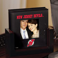 New Jersey Devils NHL Art Glass Photo Frame Coaster Set