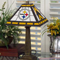 Pittsburgh Steelers NFL Stained Glass Mission Style Table Lamp