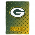 "Green Bay Packers NFL ""Diamond Plate"" 60' x 80"" Raschel Throw"