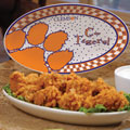"Clemson Tigers NCAA College 12"" Gameday Ceramic Oval Platter"