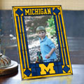 "Michigan Wolverines NCAA College 9"" x 6.5"" Vertical Art-Glass Frame"