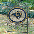 St. Louis Rams NFL Stained Glass Outdoor Yard Sign