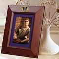 "Washington Huskies NCAA College 10"" x 8"" Brown Vertical Picture Frame"