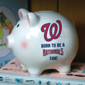Washington Nationals MLB Ceramic Piggy Bank