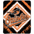 "Baltimore Orioles MLB ""Diamond"" 50"" x 60"" Micro Raschel Throw"