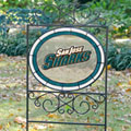 San Jose Sharks NHL Stained Glass Outdoor Yard Sign