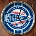"Tampa Bay Devil Rays MLB 12"" Chrome Wall Clock"