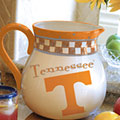 "Tennessee Vols NCAA College 14"" Gameday Ceramic Chip and Dip Platter"