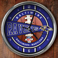 "Baltimore Ravens NFL 12"" Chrome Wall Clock"