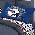 Tenessee Titans Queen Size Pinstripe Sheet Set