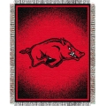"Arkansas Razorbacks NCAA College ""Focus"" 48"" x 60"" Triple Woven Jacquard Throw"