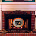 Philadelphia Flyers NHL Stained Glass Fireplace Screen