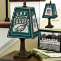 Philadelphia Eagles NFL Art Glass Table Lamp