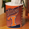 Illinois Illini NCAA College Office Waste Basket