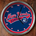 "New York Rangers NHL 12"" Chrome Wall Clock"