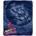 "St. Louis Cardinals MLB ""Retro"" Royal Plush Raschel Blanket 50"" x 60"""