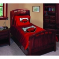 "Arkansas Razorbacks NCAA College Twin Comforter Set 63"" x 86"""