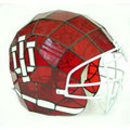 NCAA Indiana Hoosiers Stained Glass Football Helmet Lamp