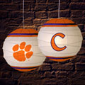 "Clemson Tigers NCAA College 18"" Rice Paper Lamp"