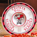 "Georgia UGA Bulldogs NCAA College 14"" Ceramic Chip and Dip Tray"