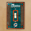 Miami Dolphins NFL Art Glass Single Light Switch Plate Cover
