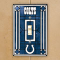 Indianapolis Colts NFL Art Glass Single Light Switch Plate Cover
