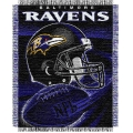 "Baltimore Ravens NFL ""Spiral"" 48"" x 60"" Triple Woven Jacquard Throw"