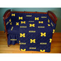 Michigan Wolverines Crib Bed in a Bag - Blue