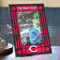 "Cincinnati Reds MLB 9"" x 6.5"" Vertical Art-Glass Frame"