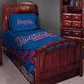 "Atlanta Braves MLB Twin Comforter Set 63"" x 86"""