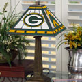 Green Bay Packers NFL Stained Glass Mission Style Table Lamp