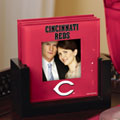 Cincinnati Reds MLB Art Glass Photo Frame Coaster Set