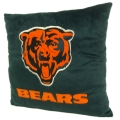 "Chicago Bears NFL 16"" Embroidered Plush Pillow with Applique"