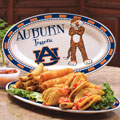 "Auburn Tigers NCAA College 12"" Ceramic Oval Platter"
