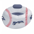 Milwaukee Brewers MLB Vinyl Inflatable Chair w/ faux suede cushions