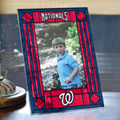 "Washington Nationals MLB 9"" x 6.5"" Vertical Art-Glass Frame"
