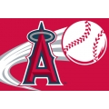 "Los Angeles Angels MLB 20"" x 30"" Acrylic Tufted Rug"
