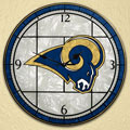 "St. Louis Rams NFL 12"" Round Art Glass Wall Clock"