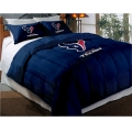 "Houston Texans NFL Twin Chenille Embroidered Comforter Set with 2 Shams 64"" x 86"""