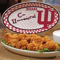 "Indiana Hoosiers NCAA College 12"" Gameday Ceramic Oval Platter"