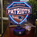 New England Patriots NFL Neon Shield Table Lamp
