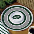 "New York Jets NFL 14"" Round Melamine Chip and Dip Bowl"
