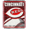 "Cincinnati Reds MLB 48""x 60"" Triple Woven Jacquard Throw"